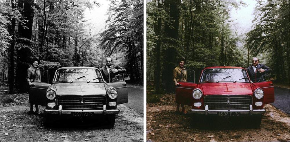 הפיכת תמונה לצבעונית - דוגמה